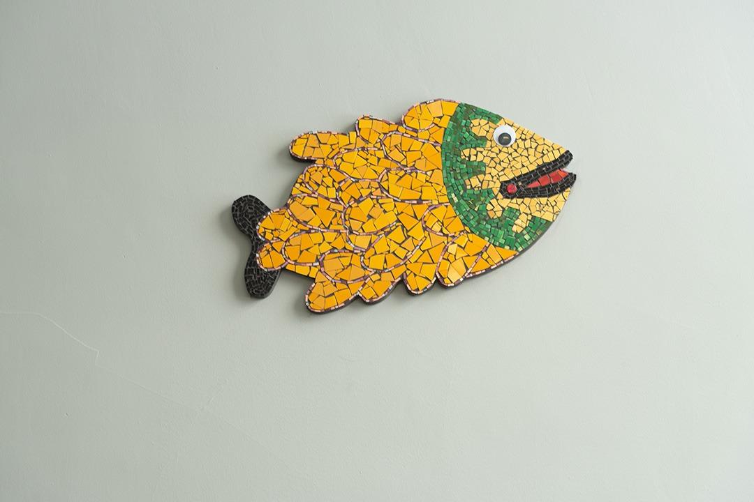 Réalisation d'une mosaïque d'un poisson